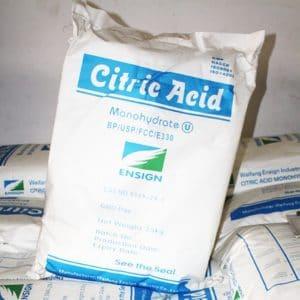 Tipos de ácido cítrico