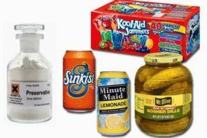 ácido benzoico en los alimentos