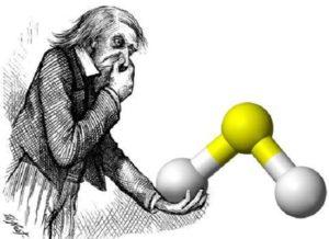 propiedades del ácido sulfhídrico. olor particular